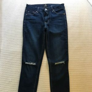 Just Black brand dark wash ankle jeans